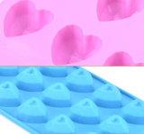 قلب شكّل سليكوون شوكولاطة قارب عادة