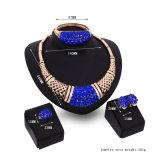 과장된 모조 다이아몬드 지르콘 목걸이 귀걸이 팔찌 반지 4 PCS 고정되는 형식 황금 보석