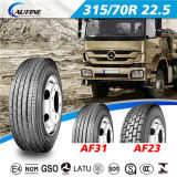 neumático del carro de la marca de fábrica de 11r22.5 11r24.5 Aufine con el mejor precio