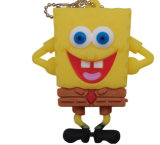 Lecteur flash USB mignon de dessin animé de PVC Customed USB Pendrive