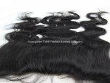 Les accessoires de face de base en soie noirs 4*13 libèrent des Hairpieces de lacet de partie
