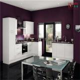 現代台所は光沢がある白い絵画現代食器棚を設計する