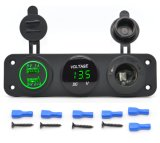 3 in 1 USB Charger + Digital LED Voltmeter + Cigarette Lighter Socket di 5V 3.1A Universal Car 2 Ports