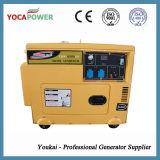 générateur portatif électrique de la couleur 5kVA de petit pouvoir silencieux jaune de moteur diesel avec la production de l'électricité 4-Stroke se produisante diesel