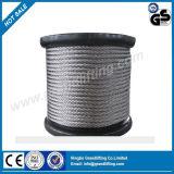 aço inoxidável de corda de fio 316 do fio do cabo de 1X9 7X19 1X19 7X7