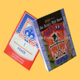 習慣によって印刷されるトランプの火かき棒のカードの広告カード