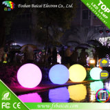 Bola plana decorativa colorida recargable sin hilos impermeable del LED
