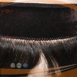 Pelo humano ninguna peluca frontal, apretón de los clips del cordón del pelo humano