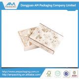 Rectángulo de regalo alineado tela hecha a mano modificado para requisitos particulares de lujo con la venta al por mayor de la tapa