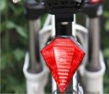 Indicatore luminoso impermeabile della coda della bicicletta della parte posteriore del fascio laser della bicicletta