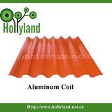 Het met een laag bedekte & In reliëf gemaakte Blad van de Rol van het Aluminium (ALC1116)