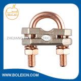 Braçadeira de alumínio de cobre do conetor de Rod aterrando de braçadeira de cabo do fio da fixação