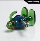 Новым покрашенные прибытием трубы кальяна стеклянного шара трубы стеклянные куря труб руки табака трубу DAB&#160 цветастых миниых стеклянную; Воск