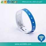 Uma Vez Use Ntag 213 RFID Vinyl Wristband para Event