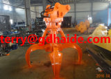 Orange hydraulique Peel Grab pour Hitachi Excavator