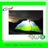 携帯用災害救助のテント