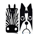 tampa macia da caixa dos desenhos animados do Mj do silicone do gato animal bonito da coruja da zebra do coelho do buldogue do cão 3D para o iPhone 4 4s 5 5s (XSDW-008)