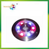 Luz del anillo de la fuente del acero inoxidable 9W RGB LED ( HX-HFL200-9W)