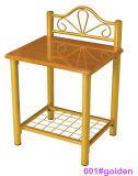 現代白い木および金属のベッドサイド・テーブルNightstand (001#White)