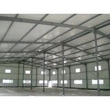 Il gruppo di lavoro chiaro della struttura d'acciaio ha prefabbricato le tettoie d'acciaio del magazzino della Camera