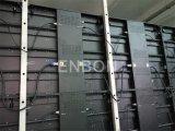 Painel interno de alumínio magro ultra fino cheio do diodo emissor de luz do arrendamento do gabinete P7.62 da cor com peso leve