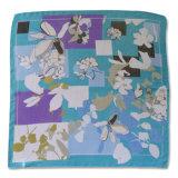 Sciarpa di seta quadrata della signora Fashion Polyester Georgette Printed (YKY4135)