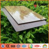Beschichtete Fabrik-Preis-Holz-Schauen das unversehrte Kern PET zusammengesetztes Aluminiumpanel