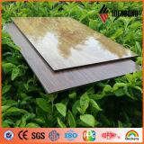 Painel composto de alumínio revestido &#160 do revestimento de madeira do núcleo do preço de fábrica da venda PE inteiro quente; Ae-308