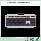 가장 싼 역광선 인간 환경 공학 디자인 LED 컴퓨터 키보드 도박 (KB-1901EL)
