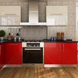 Modernes L-förmiges Projekt-hölzerne Küche-Schränke des Rot-HPL (OP14-HPL01)