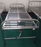 (A-121) Alles Edelstahl-einzelne Funktions-manuelle Krankenhaus-Bett