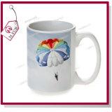 tazza di caffè di ceramica promozionale di sublimazione 15oz nel bianco