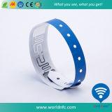 Una Volta Use Ntag213 RFID Vinyl Wristband per Festival