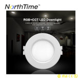 4-Zone 2.4G RF 12W LED ahuecado Rgbww enciende Downlight