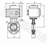 Válvula de borboleta elétrica de 2 maneiras do elevado desempenho com preço de fábrica