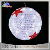 Da luz acrílica do motivo da esfera do diodo emissor de luz do Natal luz ao ar livre da decoração da rua