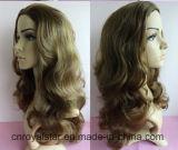 고품질 꼬부라진 가발 Remy 여성 머리 형식 합성 물질 가발