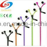 [Sq-07] Zipper 3.5mm dans-Ear Earbuds Earphone Headphone pour l'iPhone, la Samsung, le HTC, et l'atterrisseur Blue
