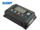 Suoer Solar Controlador 12 / 24V Poder Controlador 10A Solar Controlador de Carga com saída USB 5V 1A para Uso Doméstico Controlador Solar (ST-W1210)