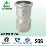 Hochwertiges Inox, das gesundheitlichen Edelstahl 304 316 Presse-passender weiblicher Nippel plombiert