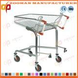 Qualitäts-Draht-Metalllebensmittelgeschäft-Supermarkt-Einkaufswagen-Laufkatze (Zht162)