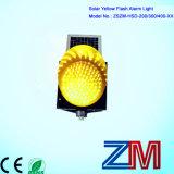 Luz de advertência de piscamento psta solar feita fábrica do amarelo do diodo emissor de luz de 200/300/400mm