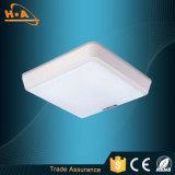 Aluminio cuadrado simple de 18W LED y lámpara de acrílico del techo