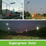 5 ans de garantie de réverbère solaire diplômée par ce 10W-60W
