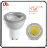 Luz mencionada del punto de ETL 7W GU10 LED