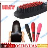 FAVORABLE cepillo automático de la enderezadora del pelo de la temperatura del LCD del mejor conjunto