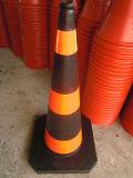 Cone de trânsito de borracha reciclada pesada de 100cm (CC-A100)