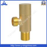 Brass válvula de ángulo con chorro de arena (YD-5022)