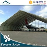 Tout-temps élevé Structure Curve Roof Aircraft Hangar de Performance TFS Design avec Flexible Fabric Hangar Gate