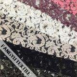 Популярная шикарная черная ткань шнурка для платья
